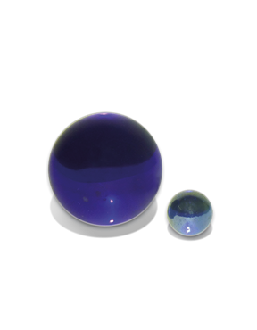 Bild von Glaskugel blau beruhigend